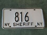 Rare 1986 New York Sheriff Department License Plate Official Vehicle Police 816