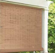 Roll Up Blinds Outdoor Cordless Manual Pvc Sun Shade Cover Multi Color And Size