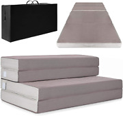 4 Inch Mattress Topper Folding Portable Queen Size Beds With High-density Foam
