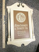 Aetna Casualty Surety Life Insurance Company 1950s Agency Display Sign Wood