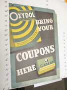 Oxydol Laundry Detergent Camay Facial Soap 1930s Store Display Sign Poster