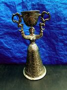 Vtg Silver Plated German Double Cup Wedding Toasting Goblet