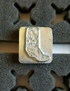 Vintage 3d Craftool Co Usa Leather Tool Stamps, Cowboy Boot, 8471