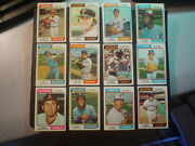 1974 Topps Lot Of 100. Incl. 12 Traded Cards. Vg-ex..
