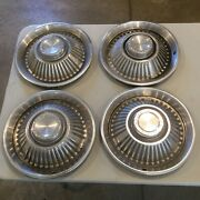 """Old Used Pontiac Motor Company 14"""" Hubcaps Set Of 4"""