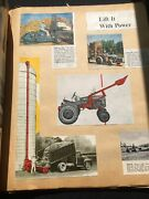 Old Scrapbook - Agriculture Farm Related - Advertising - Machinery 96 Pages