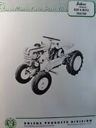 Bolens Fmc Husky 20hd-02 Ride-a-matic Lawn Riding Garden Tractor Owners Manual