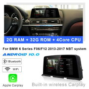 Android 10 Car Gps Auto Stereo Navigation Wireless Carplay For Bmw 6 Series F06