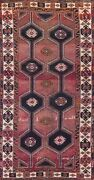 Antique Nomad Geometric Abadeh Hand-knotted Runner Rug Hallway Oriental Wool 4x9