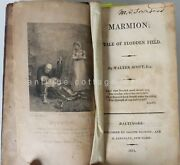 1811 Antique Marmion Tale Of Flodden Field Walter Scott And Notes Owned Townsend