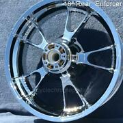 09-21 Harley Chrome 18 Rear Enforcer Wheel Street Glide Touring Outright Sale