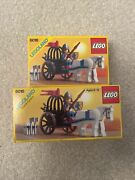 1987 Lego Castle System 6016 Knights Arsenal Set Of 2 One Longer Than The Other