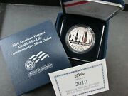 2010-w Disabled Veterans Commemorative Proof Silver Dollar With Box And Coa