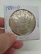 1881-o Morgan Silver Dollar Coin Ungraded Raw 1.00 New Orleans Mint