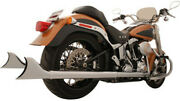 Freedom Exhaust Sharktail Signature True Dual System For Softail Models Hd00328