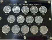 Franklin Proof Set 1950-1963 In Capital Holder. Gemmy Unc Coins