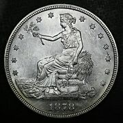 1878-s T1 Trade Silver Dollar Ms Bu Unc Details Rare Old Type Coin Money