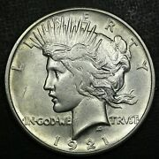 1921 1 Peace Silver Dollar Au Near Bu Rare Old Coin Free Combined Shipping L