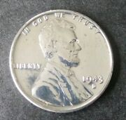 1943 -d Gembrilliant Uncirculatedsteel Lincoln Wheat Penny.