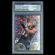 Psa/dna Certified 1995 Metal 163 Alonzo Mourning Signed Basketball Trading Card