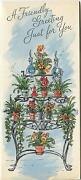 Vintage Garden Flowers Potted Plants 3 Tier Table Glass Decanters Paper Card