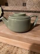 Vintage Hall Pottery Green Tricolator Coffee Or Teapot