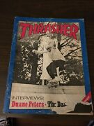 Thrasher Skateboard Magazine March 1982 Duane Peters The Damned 3/82