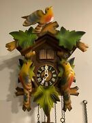 Working Small Antique Black Forrest Musical Cuckoo Clock