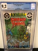 Swamp Thing Annual 2 Cgc 9.2 Wp Very 1st Justice League Dark - Key