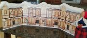 Byers Choice Accessory Carriage House Lane Backdrop Windows Lights