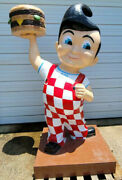 Aluminum Boband039s Big Boy Man Cave Statue Advertising Garage Gas Oil Hot Rod 7 1/2and039