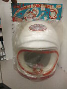 Coleco 1960s Astronaut Space Helmet Mip Nasa Cape Canaveral Rocket Playset Styro