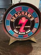 Vintage Seagramand039s 7 Seven Crown The Sure One Motion Light Bar Pub Sign