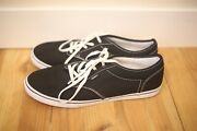 Womenand039s 11 Black And White Canvas Lace Up Skater Sneakers Tennis Shoes