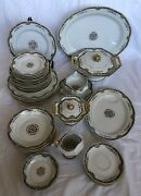 Limoge Theodore Haviland Blank 1217 Pattern H483 Dinner Set With Serving Pieces
