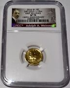 2016 W 10c 24k Gold 1/10 Oz First Releases Sp 70 Weinman Label Ngc Box Coa