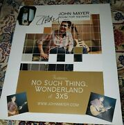 John Mayer No Room For Squares Signed Poster