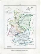 1776 Ireland - Rare Engraved Antique Map Of Tyrone By Bernard Scale Bs2/8