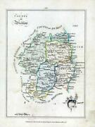 1776 Ireland - Rare Engraved Antique Map Of Wicklow By Bernard Scale Bs2/23