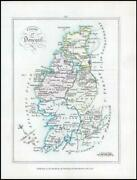 1776 Ireland - Rare Engraved Antique Map Of Donegall By Bernard Scale Bs2/9