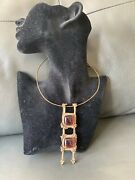 Vintage Bronze Finnish Neck Ring And Pendant