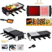 Aoni Raclette Table Grill, Electric Indoor Grill Korean Bbq Grill, Removable 2-i
