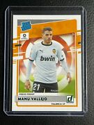 2020-21 Chronicles Manu Vallejo Donruss Rated Rookie Rc Valencia Cf Ssp Green /5