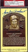 Sparky Anderson Signed Gold Hall Of Fame Plaque Psa/dna Autograph Authentic