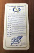 1929 Notre Dame College Football Schedule Championship Year Knute Rockne Rare