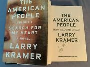 Signed 1st/1st The American People Volume 1 By Larry Kramer 2015 Hardcover