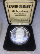 Mickey Mantle 1oz Silver Coin-limited Edition-enviromint-triple Crown Winner