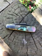 Vintage 1980andrsquos Frost Cutlery Japan Abalone Little Barlow Knife Knives