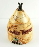Vintage Fred Roberts Company Tee Pee Cookie Jar Rare 10 Inches Tall