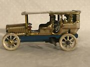 Tin Wind Up Toy Automobile Jd Distler Germany Rare Penny Nickle Toy Hand Painted